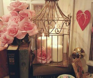 book, vintage, and rose image