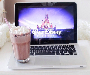 disney, movie, and laptop image