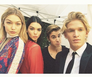 justin bieber, cody simpson, and kendall jenner image