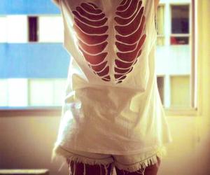heart, white, and shirt image