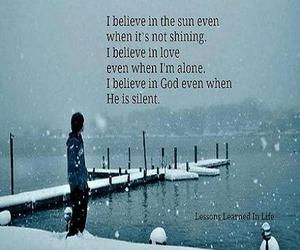 alone, i believe, and in love image