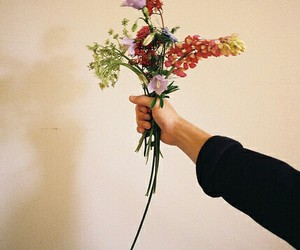 flowers, vintage, and hand image