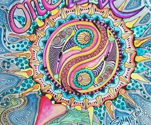 one love, hippie, and peace image
