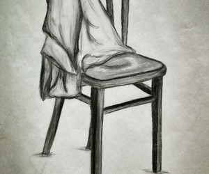 chair, drawing, and homework image