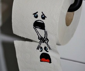 funny and toilet paper image