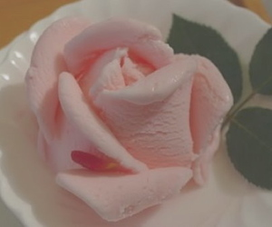 pink, rose, and ice cream image