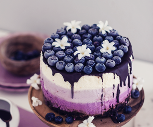 bilberry, cake, and cream image