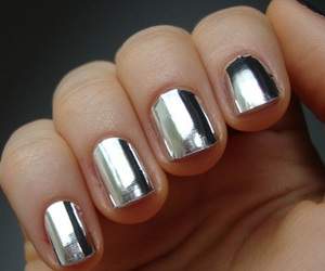 nails, silver, and metallic image