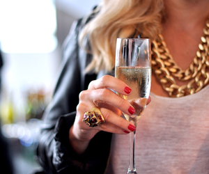 blonde, champagne, and gold image