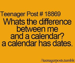 date, teenager post, and calendar image