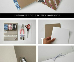 notebook, diy, and pattern notebook image