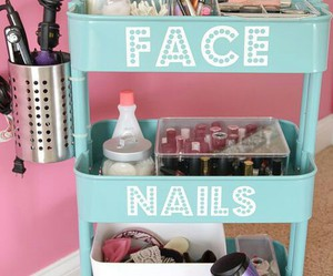 diy, nails, and face image