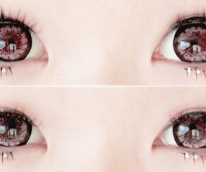 eyes, kawaii, and pink image