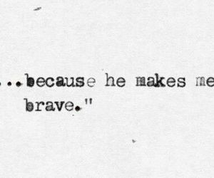 brave, couple, and strong image
