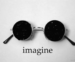 imagine, glasses, and stars image