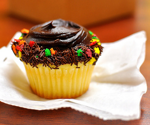 cute, cupcakes, and chocolate image