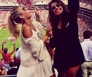 football, girl, and friends image