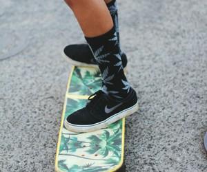 nike, skate, and skater image