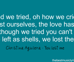 christina aguilera, cry, and Died image