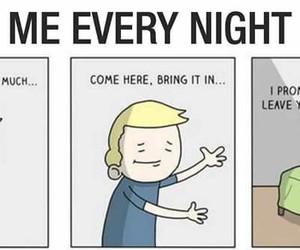 bed, funny, and sleep image