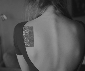 back, black and white, and girl image