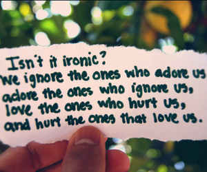 love, ironic, and quote image