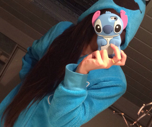 blue, stitch, and ootd image