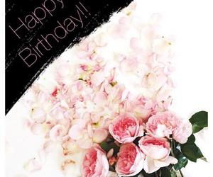 flowers, happy birthday, and modern image