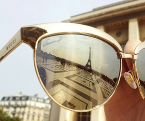 paris, gucci, and sunglasses image