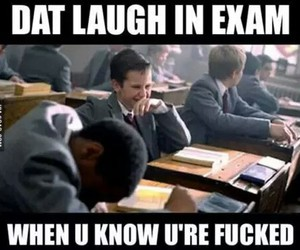 exam, funny, and laugh image