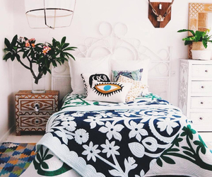 bedroom, indian, and white image