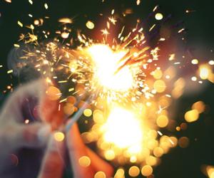 firework, light, and lights image