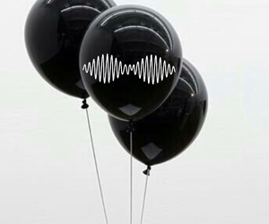 black, arctic monkeys, and balloons image