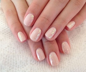 nails, gel, and pink image