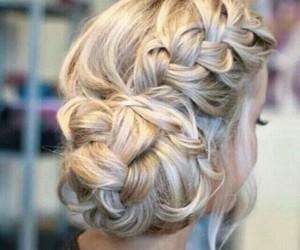 braid, chignon, and hairdo image