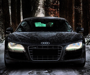 car, winter, and audi image