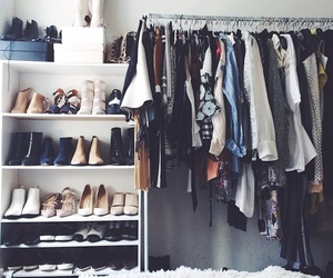 bedroom, clothes, and wardrobe image