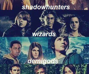 harry potter, the mortal instruments, and percy jackson image