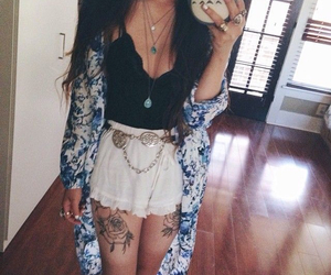 fashion, tattoo, and outfit image