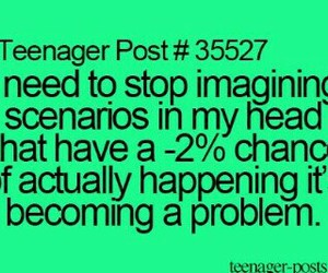 teenager post, funny, and problem image