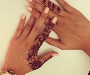 happy, cute, and henna image