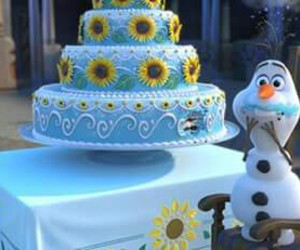 cake, girls, and frozen image