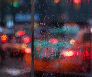 light, rain, and autumn image