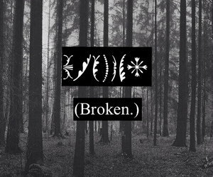 black and white, broken, and Darkness image