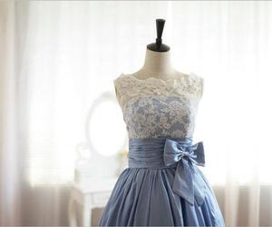 blue, bow, and dress image