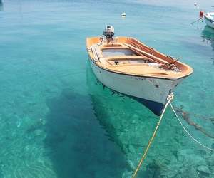 sea, boat, and summer image
