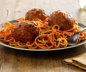 meatballs, pasta, and spaghetti image