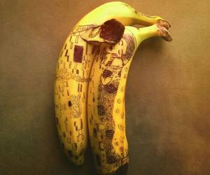 art, banana, and kiss image