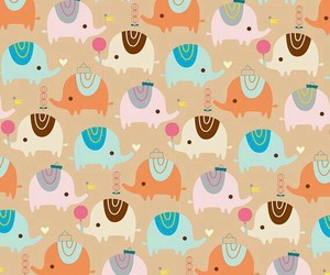 elephants, pattern, and love image
