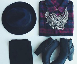 fashion, outfit, and hat image